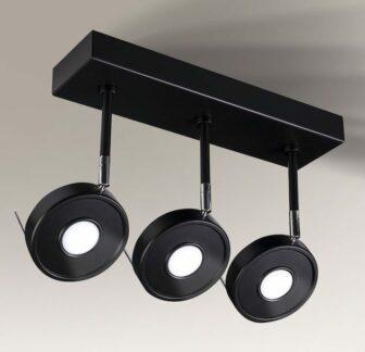 Eleganckie potrójne reflektorki LED Fussa - czarne