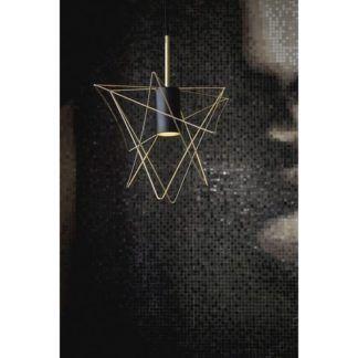 Designerska lampa wisząca Gstar - geometryczny klosz