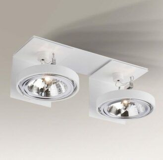 Wpuszczany podwójny reflektorek Hamada - biały