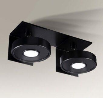 Podwójny reflektor LED Hamada IL - wpuszczany - czarny
