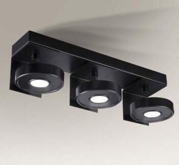 Potrójny reflektor LED Hamada IL - czarny