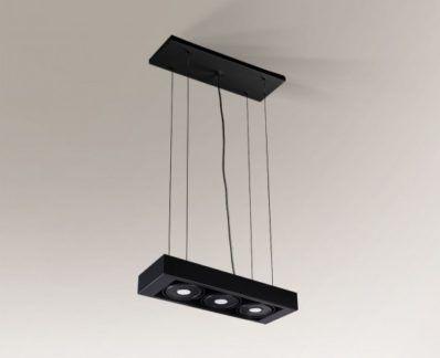 Lampa zwieszana LED Koga IL z regulacją żarówki - czarna
