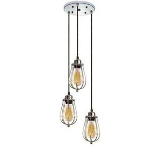 Industrialna lampa wisząca Kopenhagen - 3 klosze