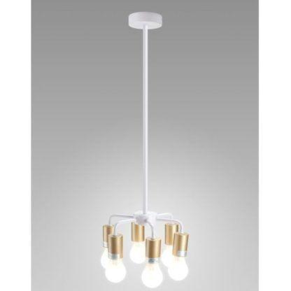biało-złota lampa wisząca nowoczesna