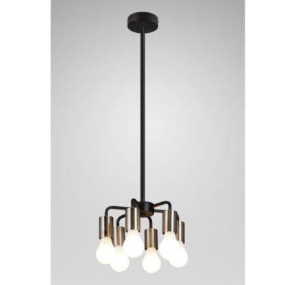 Metalowa lampa wisząca Inga - czarna, industrialna