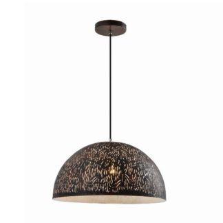 Metalowa lampa wisząca Asha - czarna półkula
