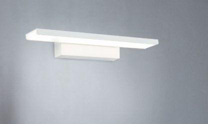biały kinkiet do oświetlenia lustra nowoczesny