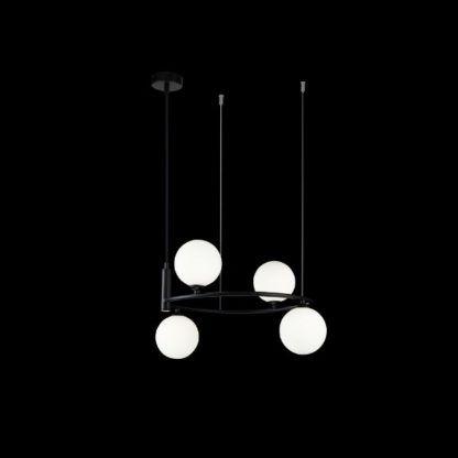 czarny żyrandol nowoczesny szklane kule
