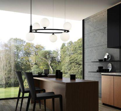 lampa wisząca do nowoczesnej kuchni aranżacja
