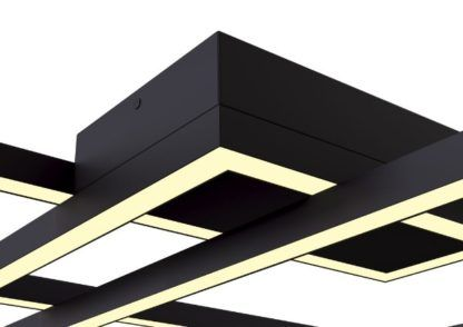 czarna lampa sufitowa moduł LED