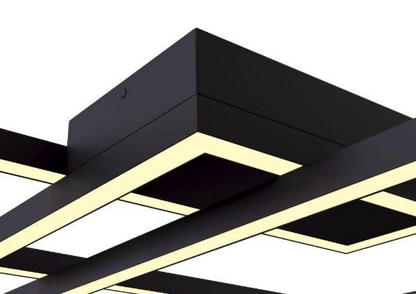 lampy sufitowe led czarne