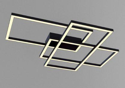 czarna geometryczna lampa sufitowa led