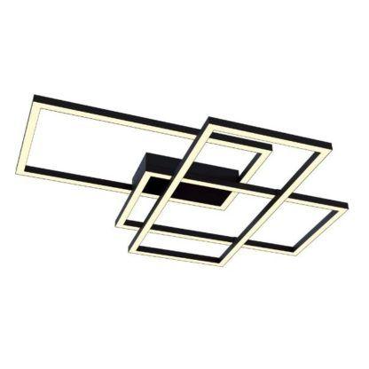 Geometryczna lampa sufitowa Line - czarna