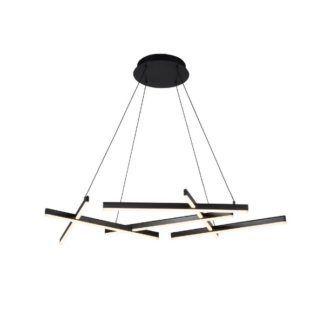 Ledowa lampa wisząca Line - czarne pręty