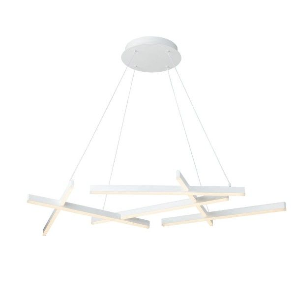 biała lampa wisząca do jadalni do salonu