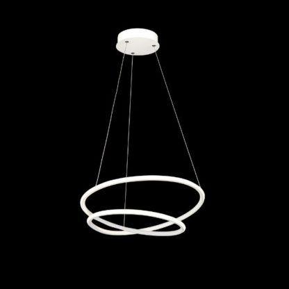 lampa wisząca biała ledowe okręgi