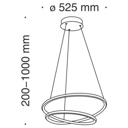 Designerska lampa wisząca Nola - ledowe okręgi