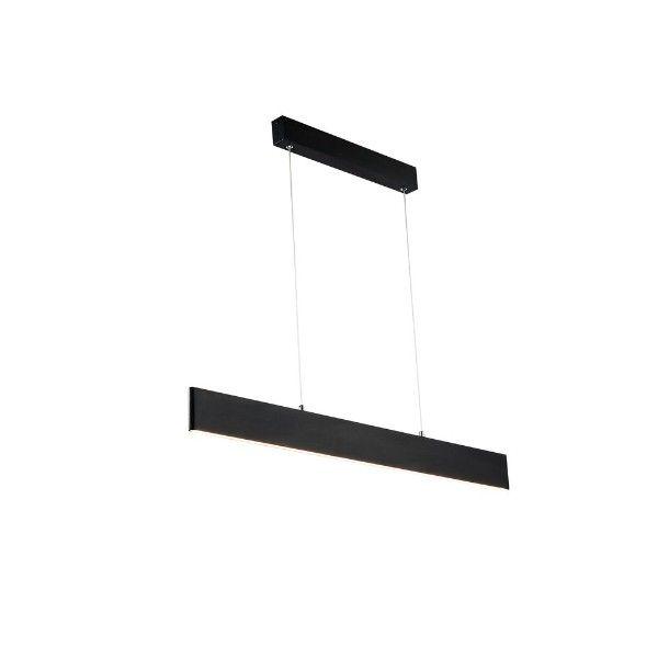 Czarna lampa wisząca Step - nowoczesna, LED