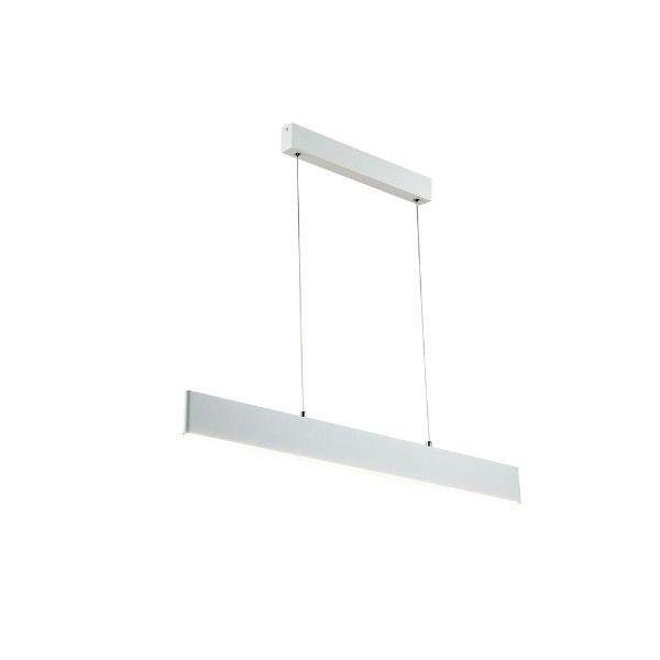 biała lampa wisząca listwa led nad stół