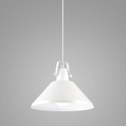 lampa wisząca biały klosz