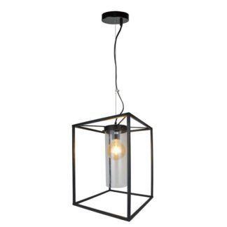Czarna lampa wisząca Morgan - metalowa oprawa