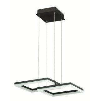 Podwójna lampa wisząca Lorenzo - geometryczne klosze, LED