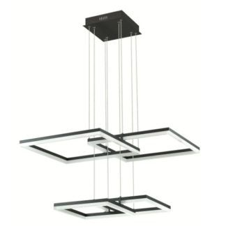Nowoczesna lampa wisząca Lorenzo - moduł LED, czarna