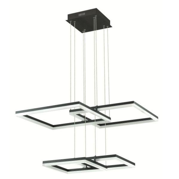 ledowa lampa z czarnych kwadratów