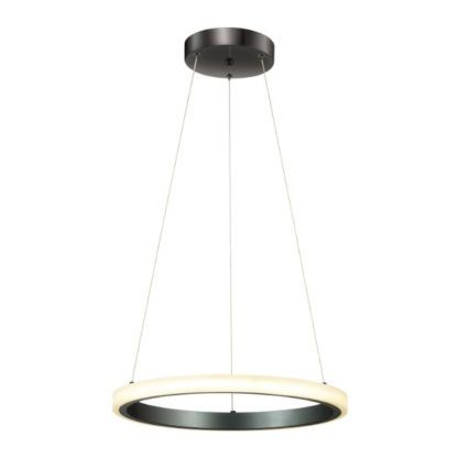 lampa wisząca led czarny ring