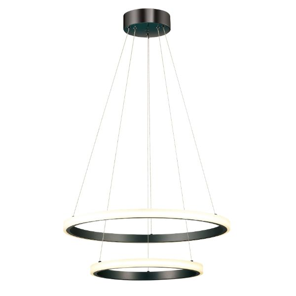 ledowa lampa wisząca czarne ringi