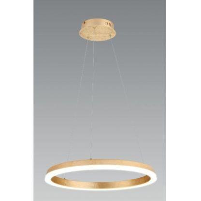 ledowa lampa wisząca złota obręcz