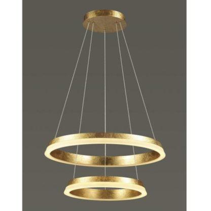 lampa wisząca okręgi led złota