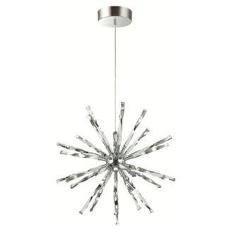Oryginalna lampa wisząca Hikari - srebrna, LED