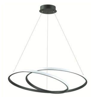 Nowoczesna lampa wisząca Rosso - czarna spirala, LED