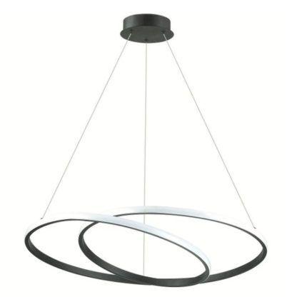 czarne okręgi lampa wisząca LED