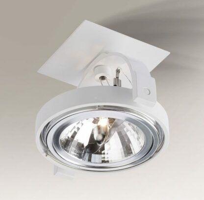 biały reflektorek do salonu