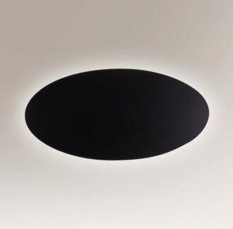 Owalny kinkiet dekoracyjny Suzu LED - czarny