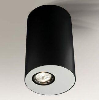 Elegancka lampa tuba Toki - czarno-biała