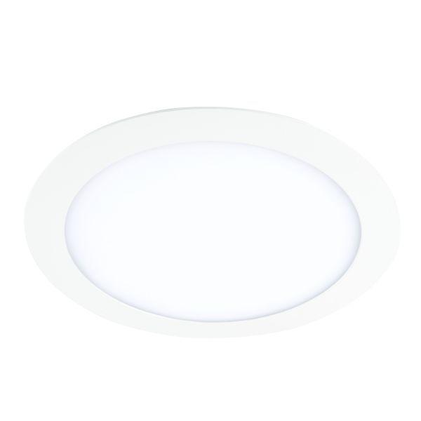 białe oczko wpuszczane w sufit