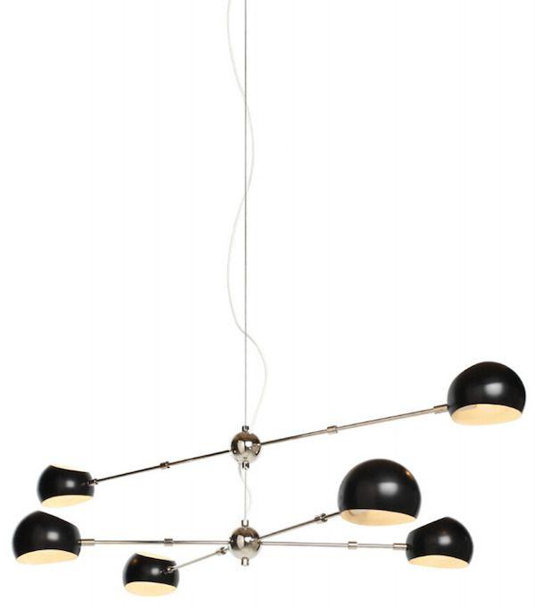 czarna nowoczesna lampa do biura