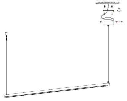 Lampa wisząca LED Beam 120 - złota