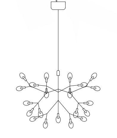 Dekoracyjna lampa wisząca LED Botanic Chic - miedziana