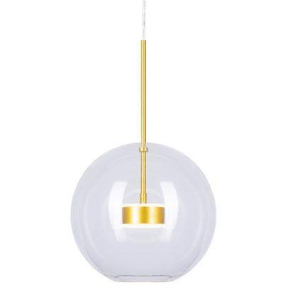 Szklana lampa LED Bubbles wisząca z transparentnego szkła