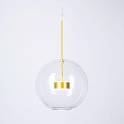 elegancka szklana lampa do salonu