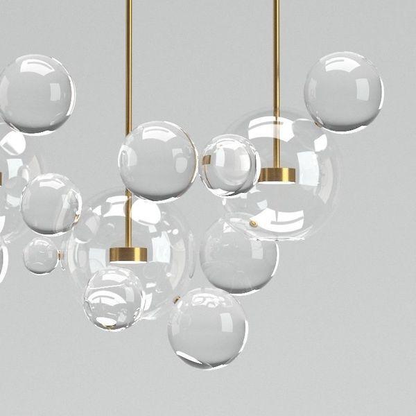nowoczesny żyrandol szklany do salonu