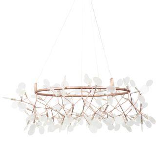 Dekoracyjna lampa LED Botanic Chic - miedziana, duża