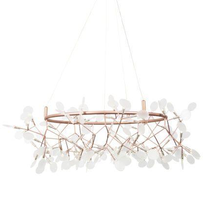 nietypowa lampa miedziana do salonu