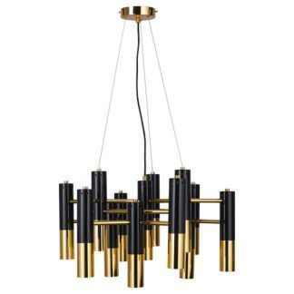 Nowoczesny elegancki żyrandol Golden Pipe w stylu Art Deco