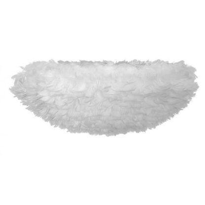 biały plafon z piór naturalnych
