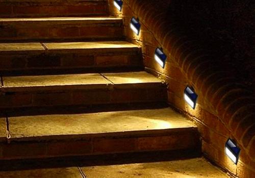 kinkiety solarne led na schody zewnętrzne domu